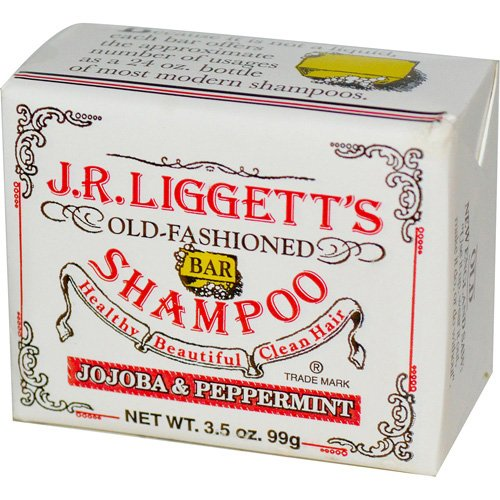 J.R. Liggett's Old Fashioned Bar Shampoo Counter Display - Jojoba and Peppermint - 3.5 oz - Case of