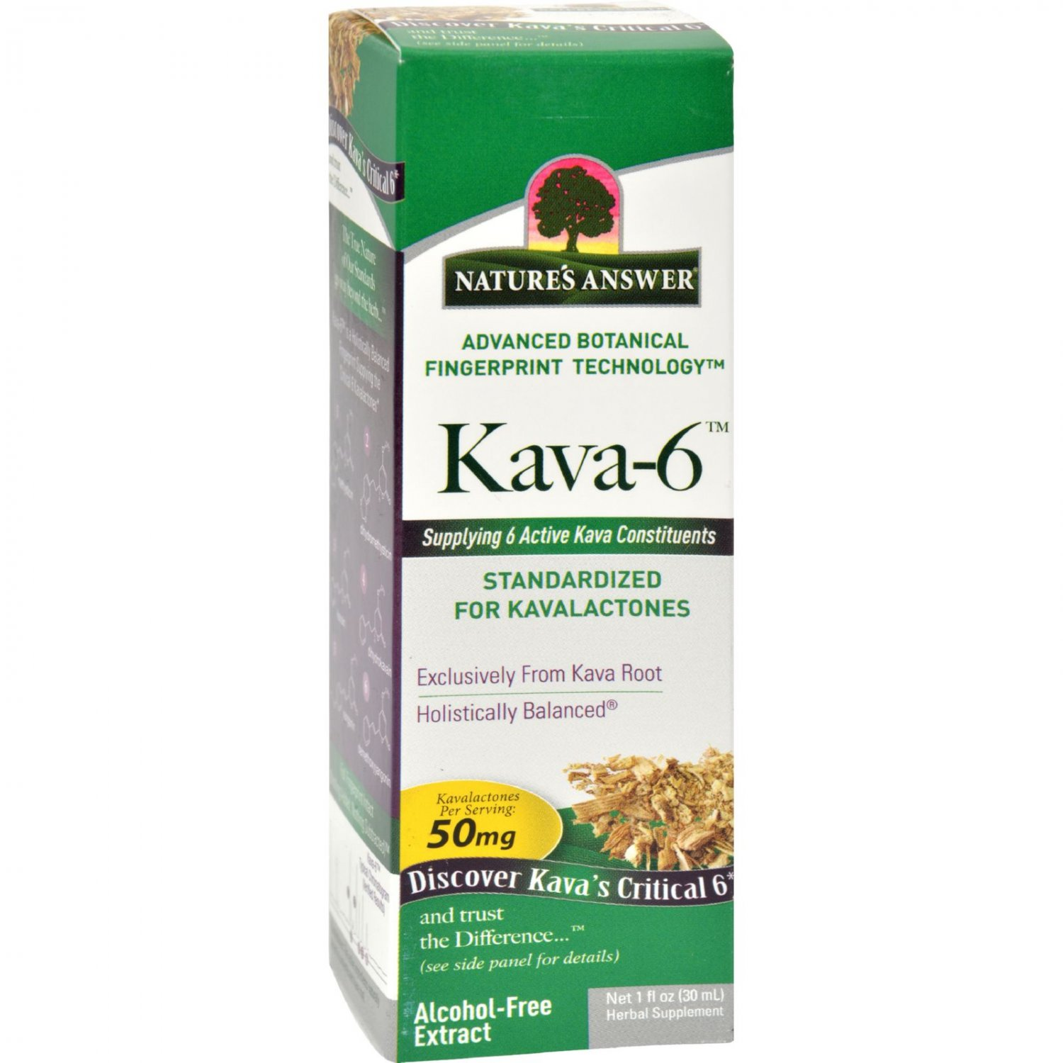 Nature's Answer Kava 6 Extract - Alcohol Free - 1 oz