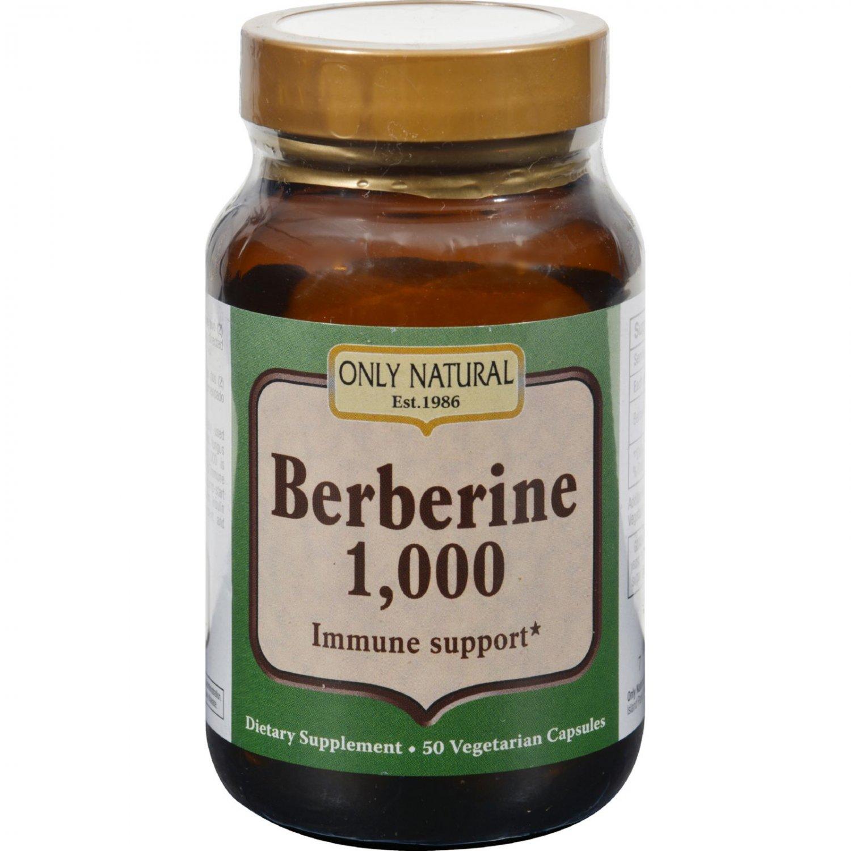 Only Natural Berberine - 1000 mg - 50 Vegetarian Capsules
