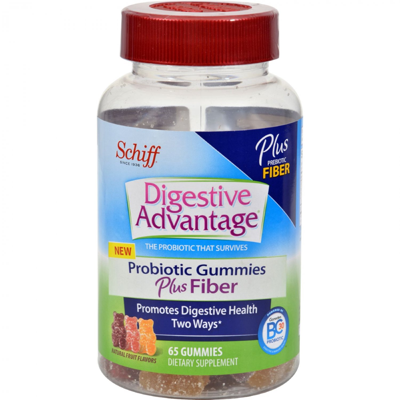 Schiff Vitamins Digestive Advantage - Probiotic Gummies plus Fiber - 65 ct
