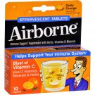 Airborne Effervescent Tablets with Vitamin C - Zesty Orange - 10 Tablets