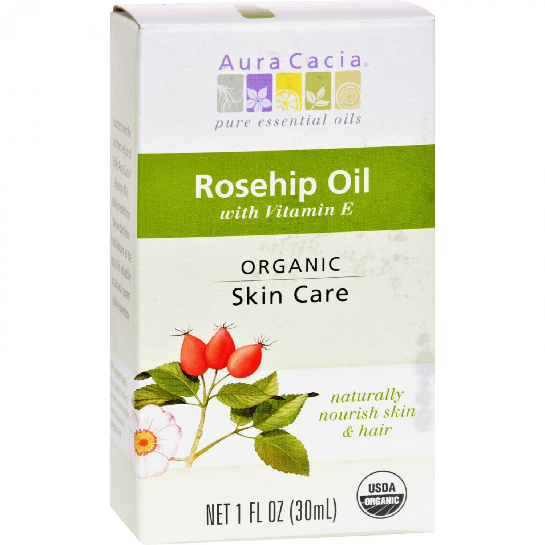 Aura Cacia Skin Care Oil - Organic - Rosehip Oil - 1 fl oz