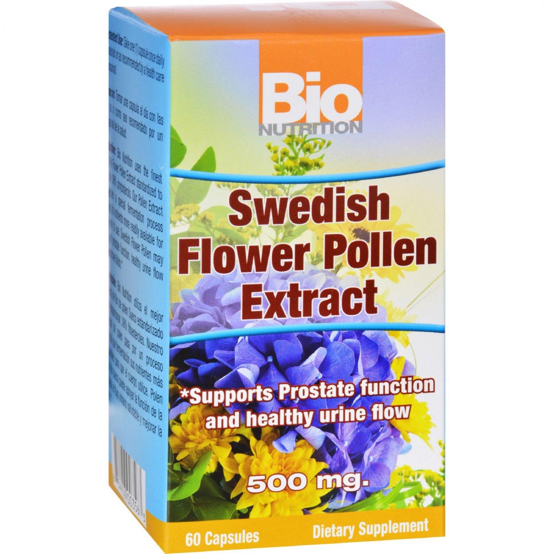 Bio Nutrition Inc Swedish Flower Pollen Extract - 500 mg - 60 Veg Capsules