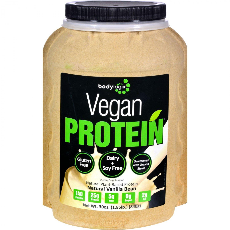 Bodylogix Protein Powder - Vegan Plant Based - Vanilla Bean - 1.85 lb