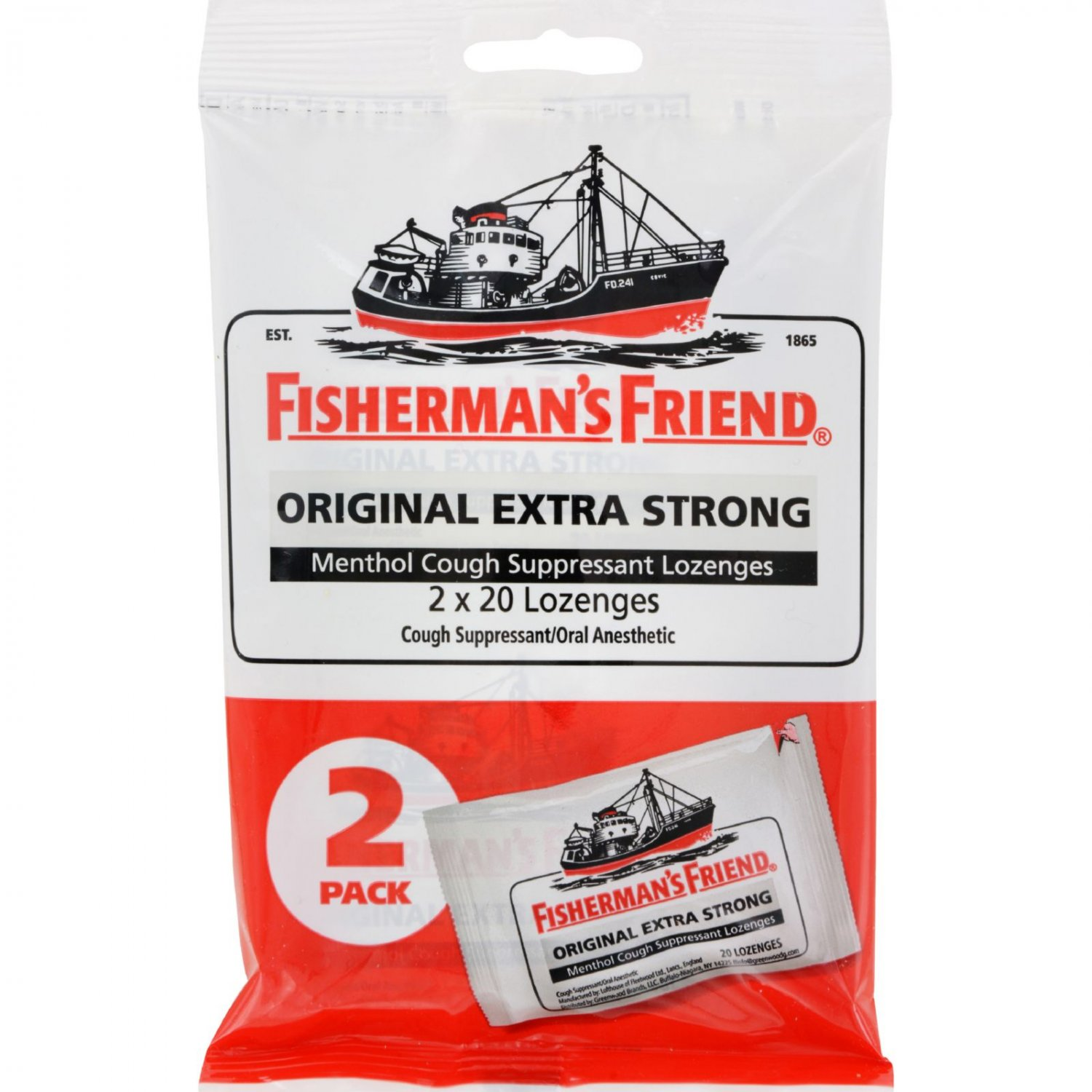 Fisherman's Friend Lozenges - Original Extra Strong - Dsp - 40 ct - 1 Case