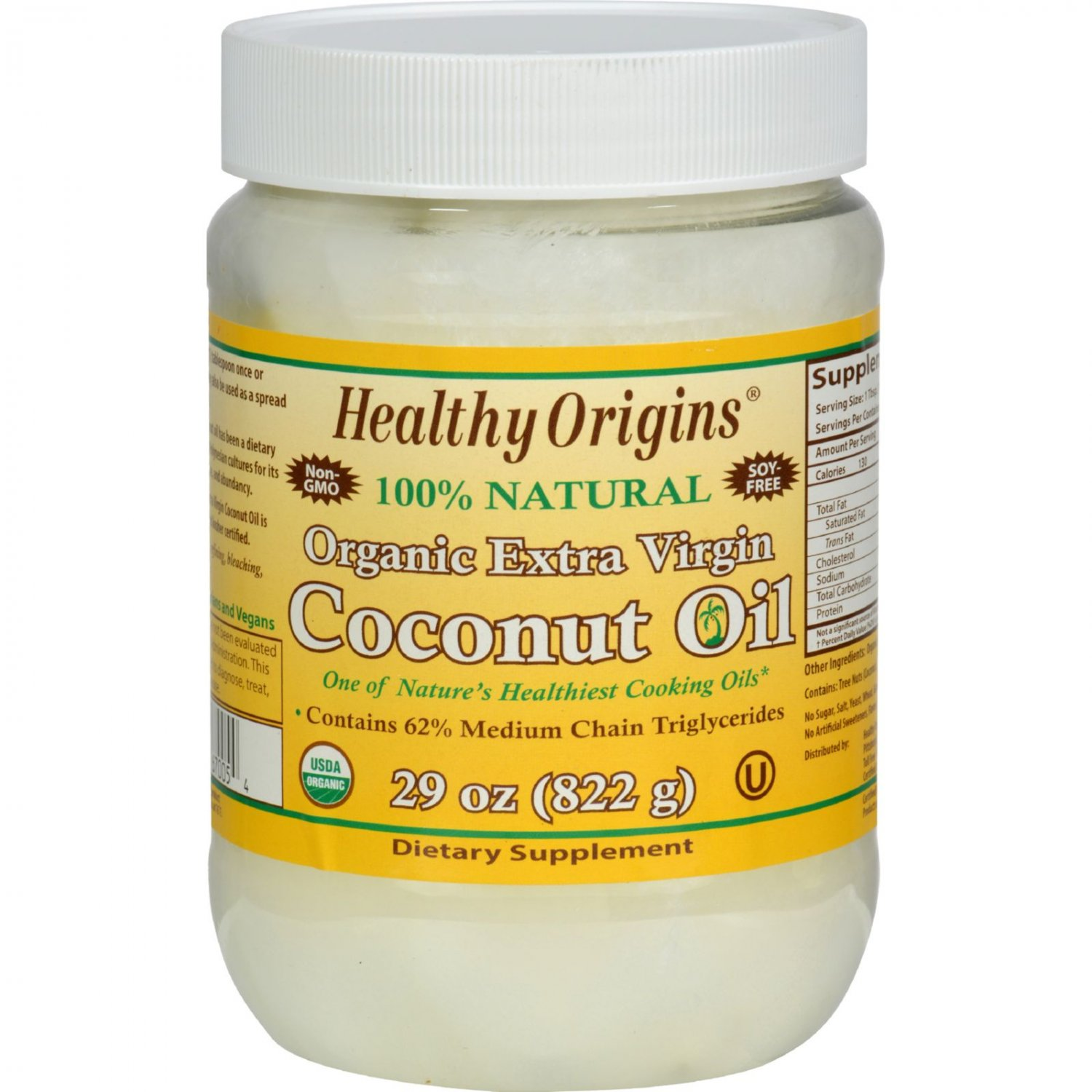 Healthy Origins Coconut Oil - Organic - Extra Virgin - 29 oz
