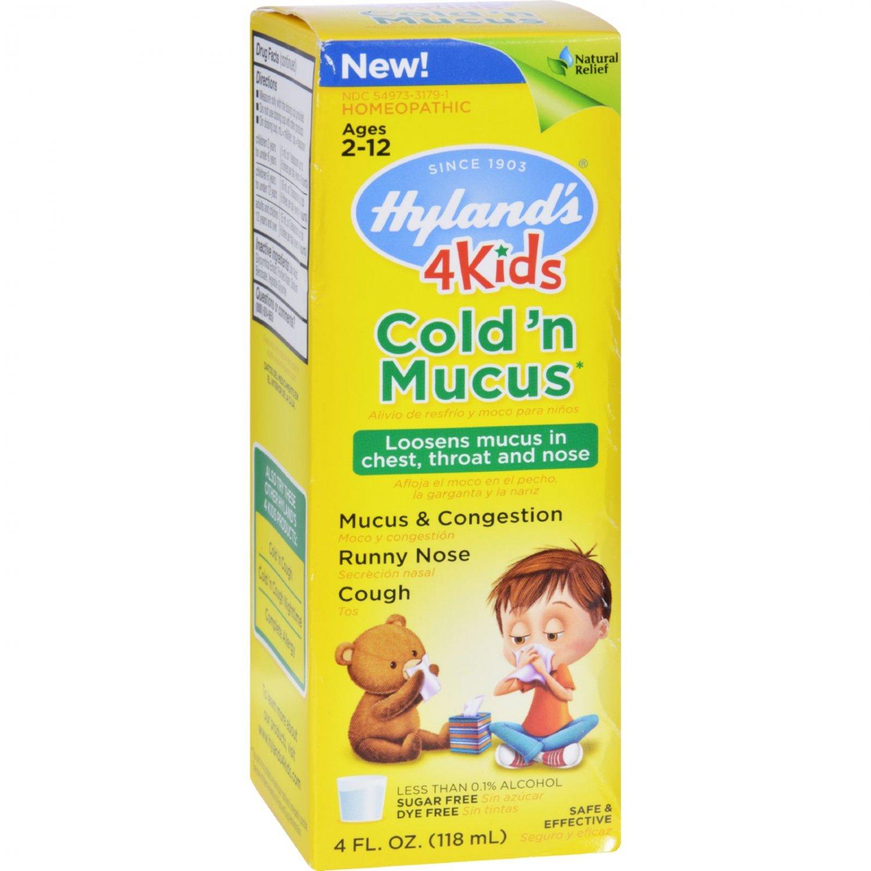 Hylands Homepathic Cold 'n Mucus - 4 Kids - 4 fl oz