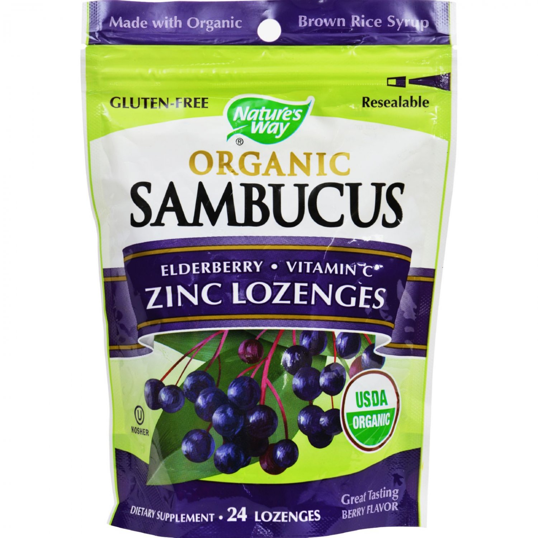 Nature's Way Lozenge - Organic - Elderberr Zinc - 24 Count