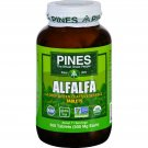 Pines International Alfalfa - Organic - Tablets - 500 Tablets