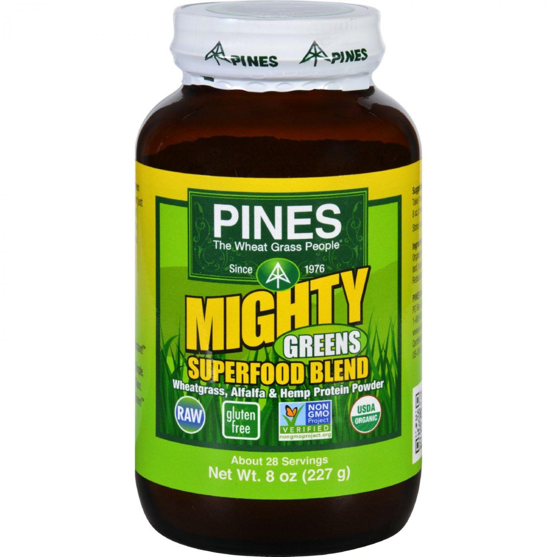 Pines International Mighty Greens Superfood Blend Powder - Organic - 8 oz