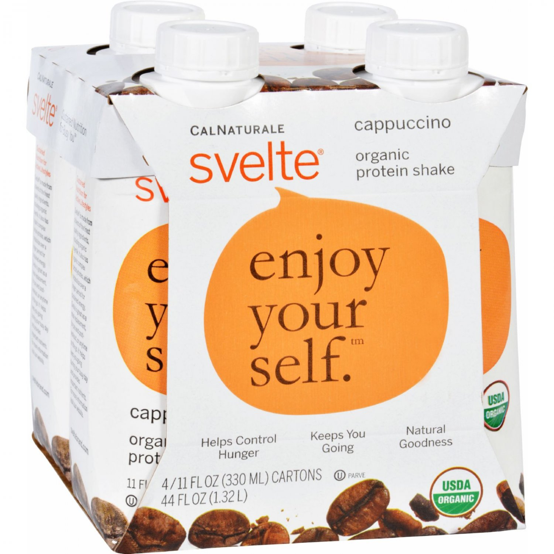 Svelte Protein Shake - Organic - Cappucino - 11 fl oz - Case of 24