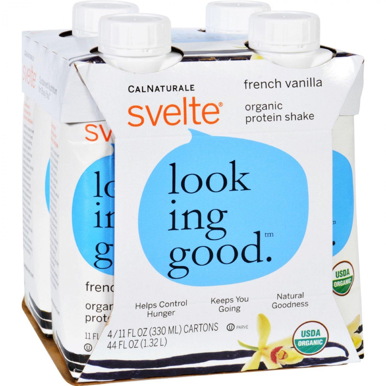Svelte Protein Shake - Organic - French Vanilla - 11 fl oz - Case of 24
