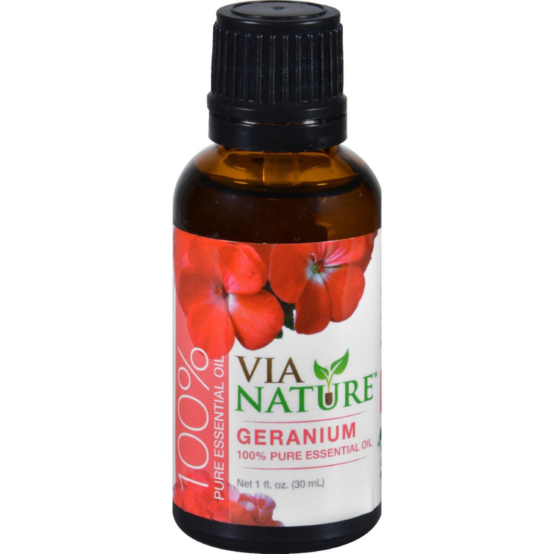 Via Nature Essential Oil - 100 Percent Pure - Geranium - 1 fl oz