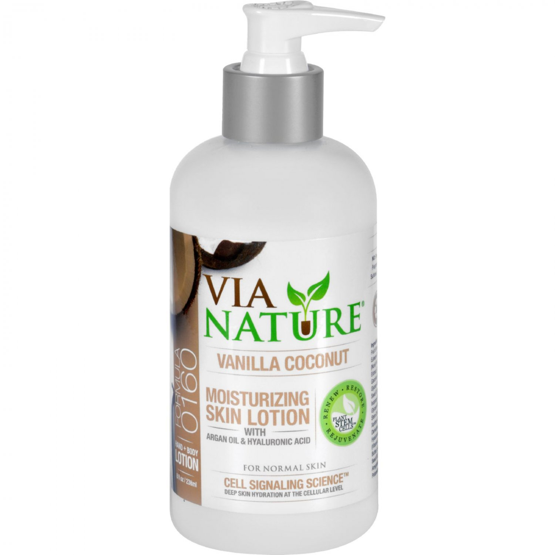 Via Nature Lotion - Moisture - Vanilla Coconut - 8 fl oz