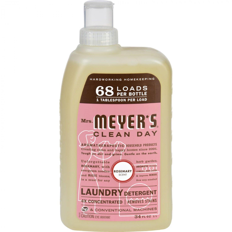 Mrs. Meyer's 68 Load 4x Laundry Detergent - Rosemary- 34 fl oz