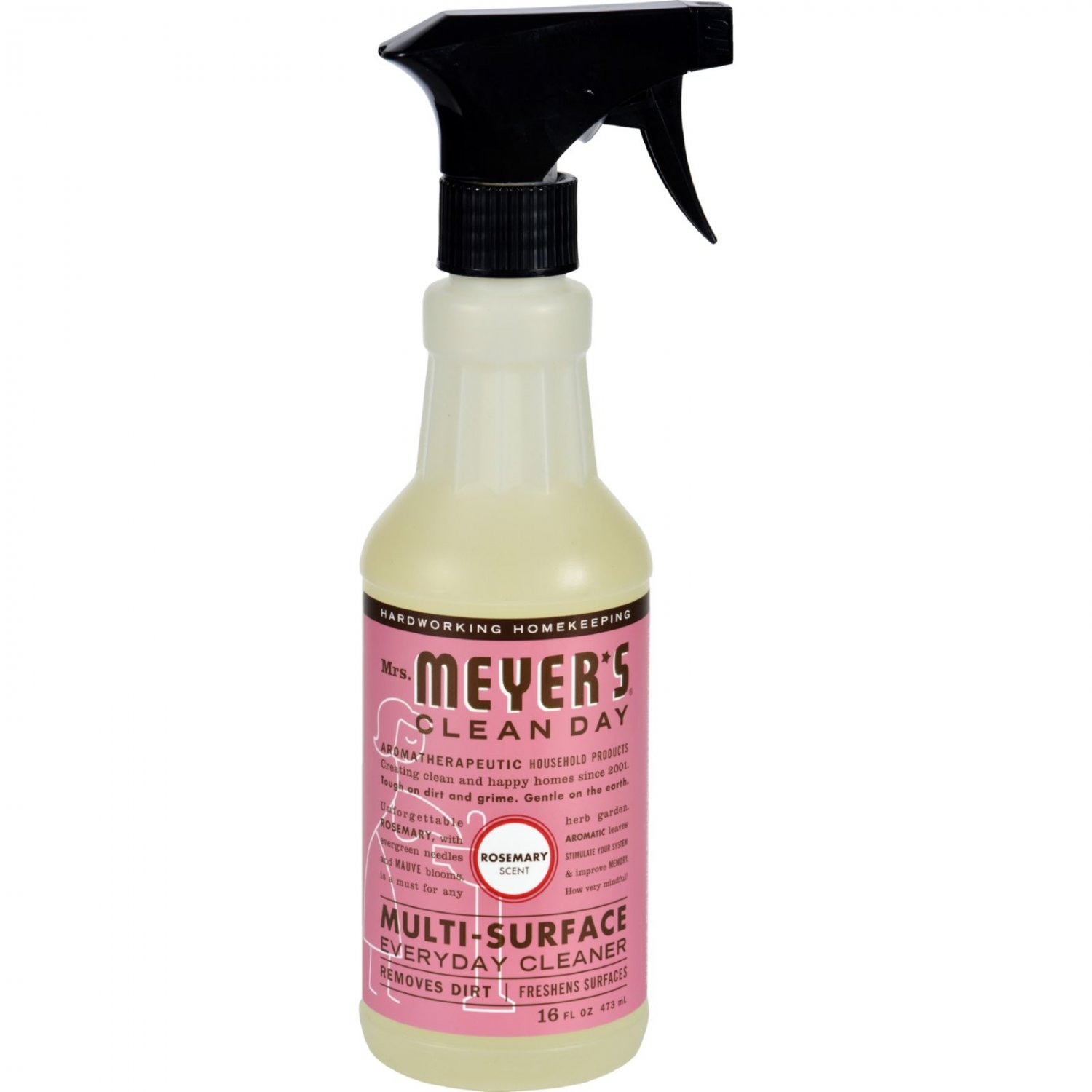 Mrs. Meyer's Multi Surface Spray Cleaner - Rosemary - 16 fl oz - Case of 6