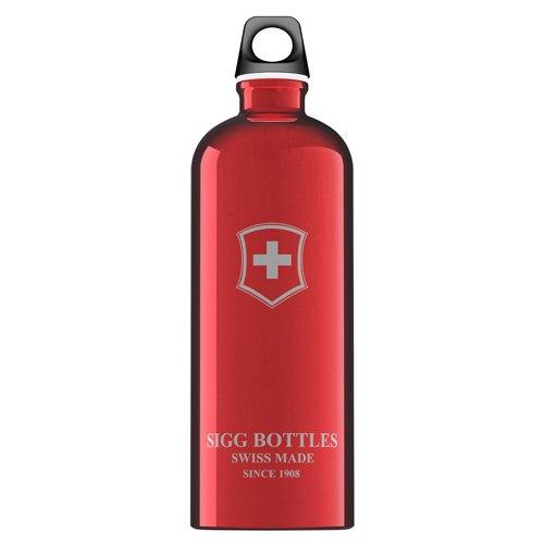 Sigg Water Bottle - Swiss Emblem - Red - 1 Liter