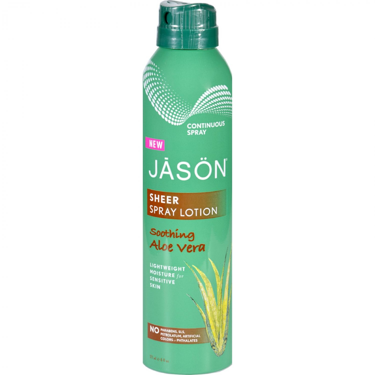 Jason Natural Products Spray Lotion - Sheer - Soothing Aloe Vera - 6 oz