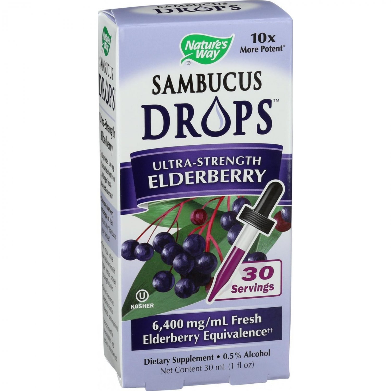 Nature's Way Sambucus Drops - Ultra Strength - 1 oz