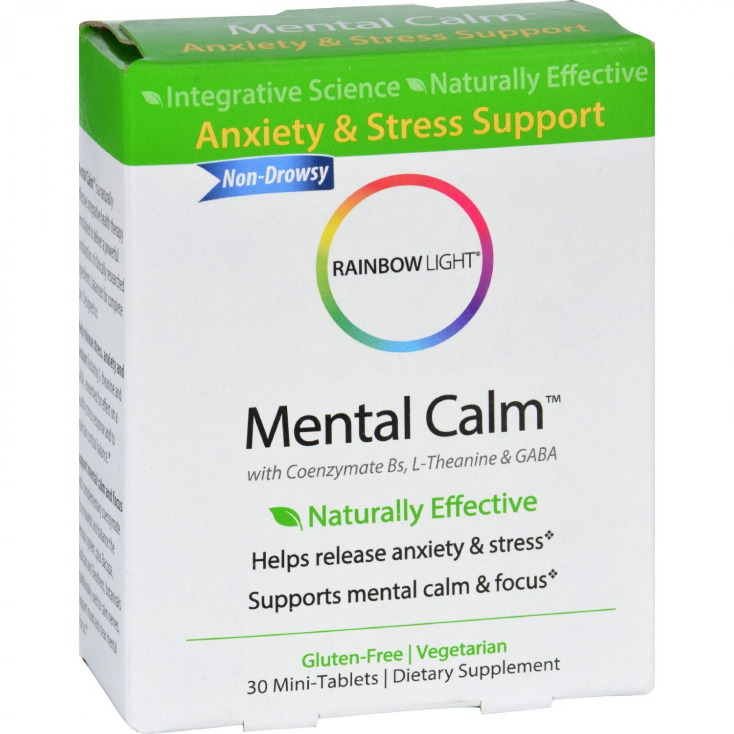 Rainbow Light Mental Calm - Stress and Anxiety Support - 30 Tablets