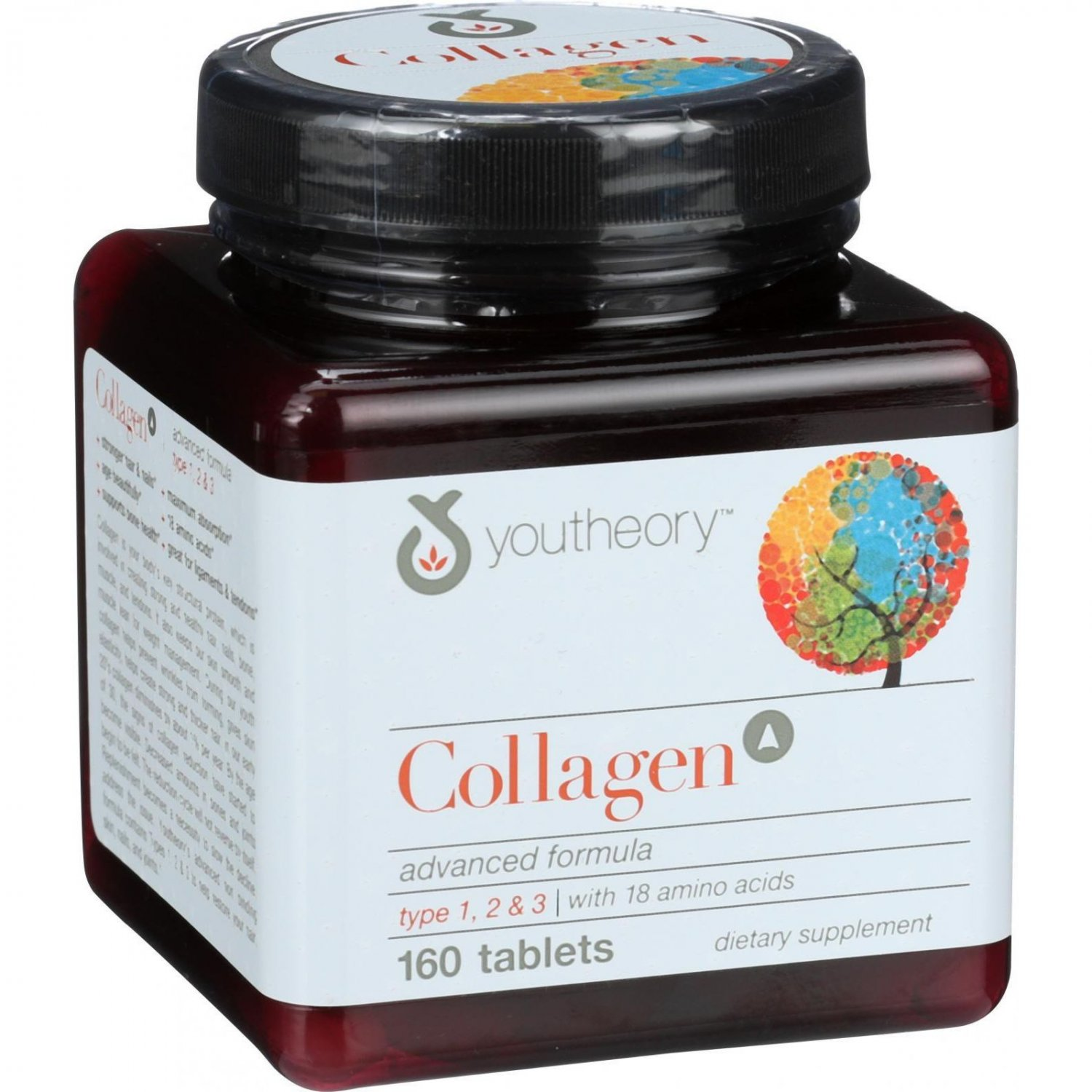 Youtheory Collagen - Type 1 and 2 and 3 - Advanced Formula - 160 Tablets