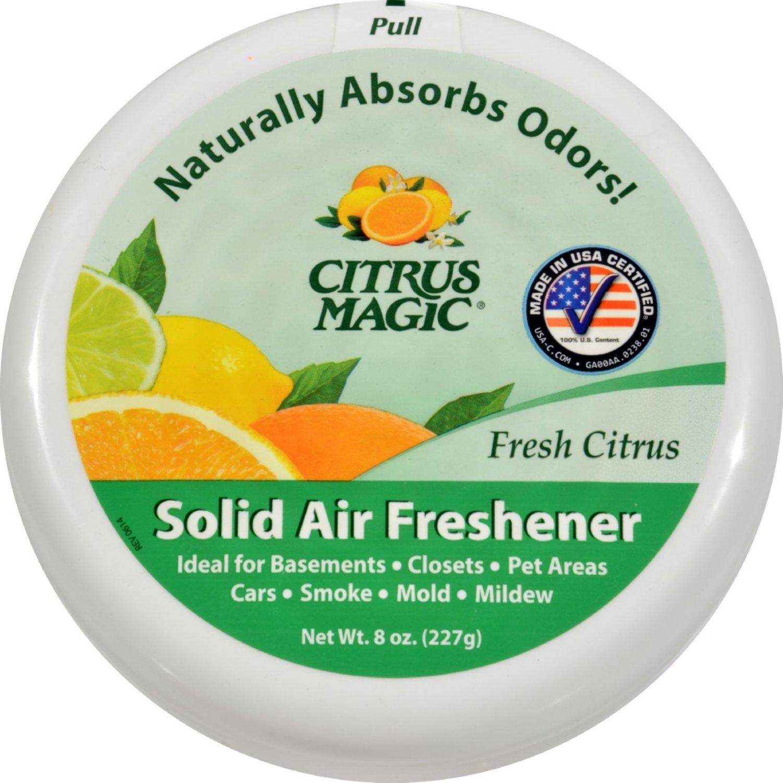 Citrus Magic Air Freshener - Odor Absorbing - Solid - Fresh Citrus - 8 oz (Pack of 3)