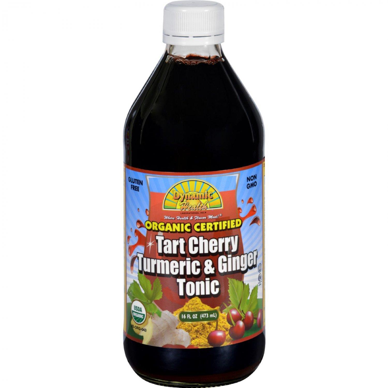 Dynamic Health Tonic - Tart Cherry Turmeric and Ginger - Organic Certified - 16 oz