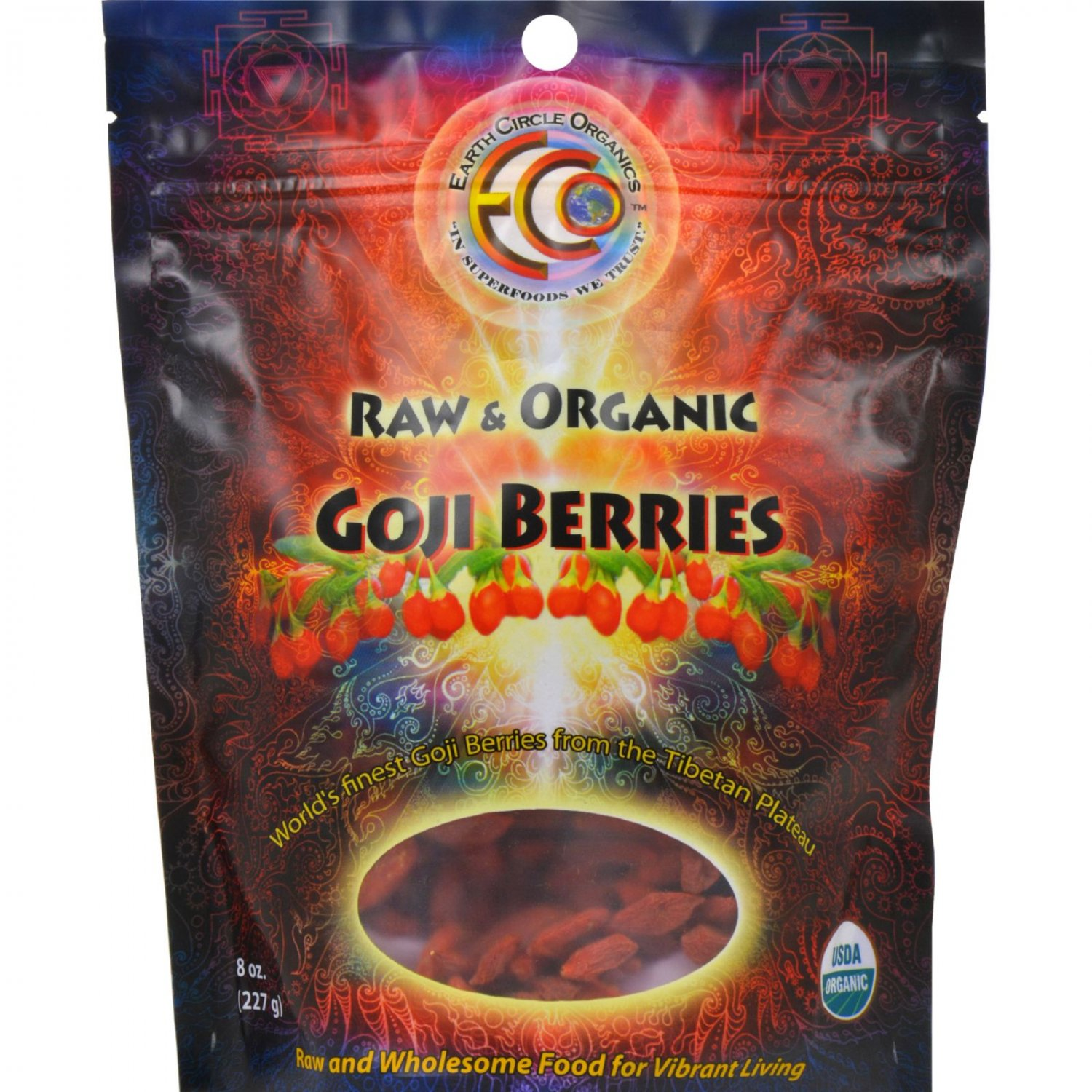 Earth Circle Organics Goji Berries - Organic - Dried - 8 oz