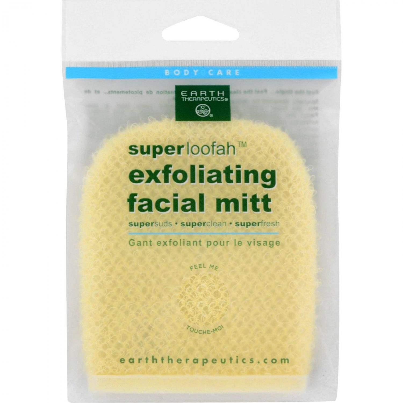 Earth Therapeutics Loofah - Super - Exfoliating - Facial Mitt - 1 Count