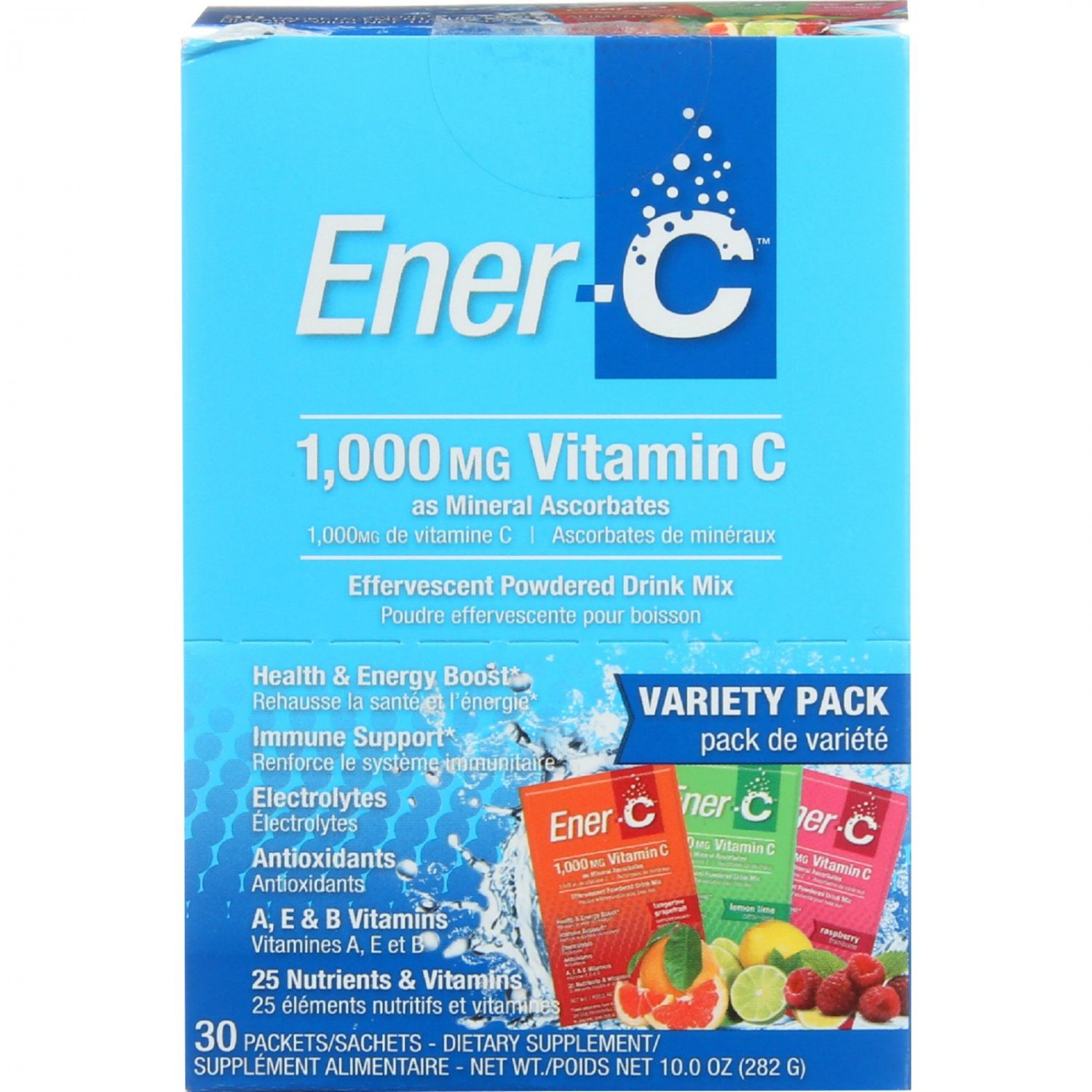 Ener-C - Variety Pack - 1000 mg - 30 packets - 1 each