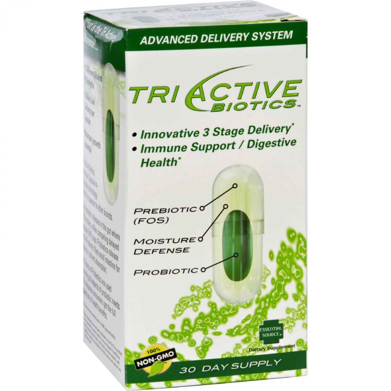 Essential Source TriActive Biotics - 30 Vegetarian Capsules