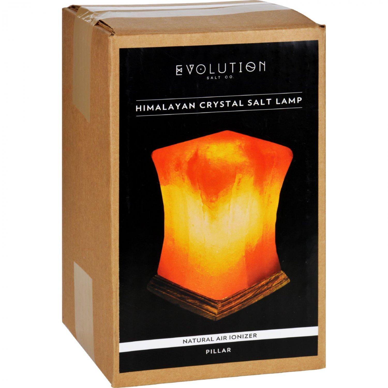 Evolution Salt Crystal Salt Lamp - Pillar - 1 Count