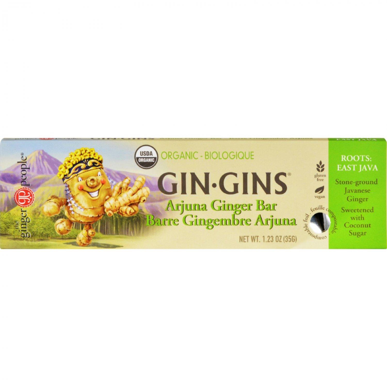 Ginger People Gin Gins Bar - Organic - Arjuna Ginger - 1.23 oz - Case of 16