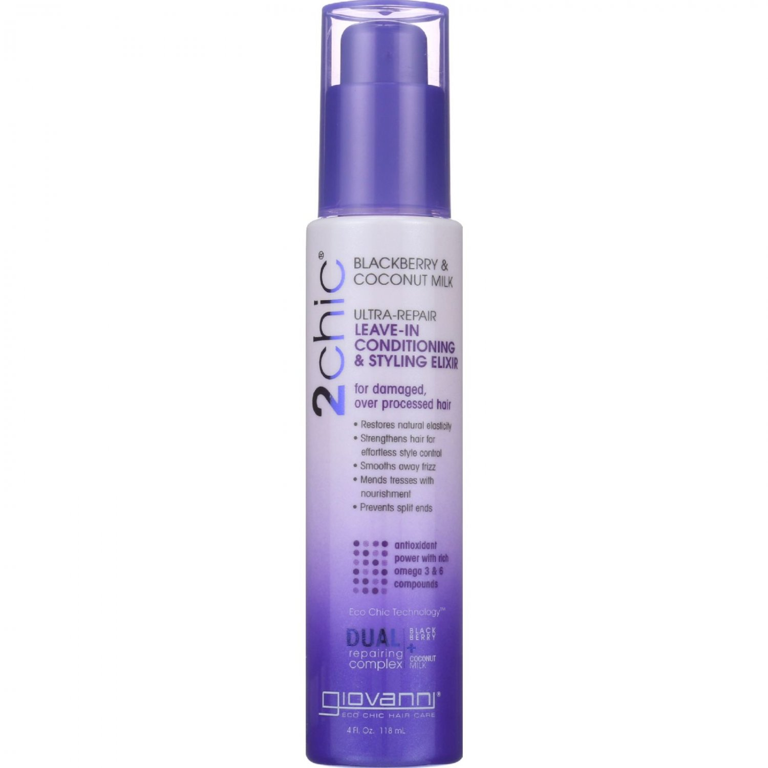 Giovanni Hair Care Products Conditioner - 2Chic - Repairing - Leave-In Conditioning and Styling Elix