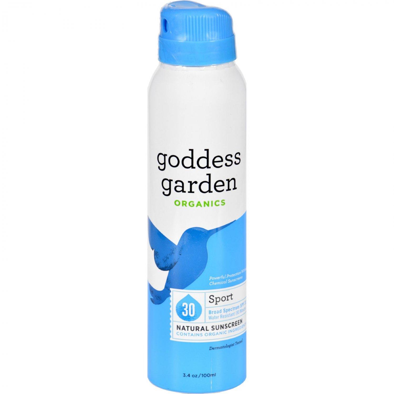 Goddess Garden Sunscreen - Natural - Sport - SPF 30 - Continuous Spray - 3.4 oz