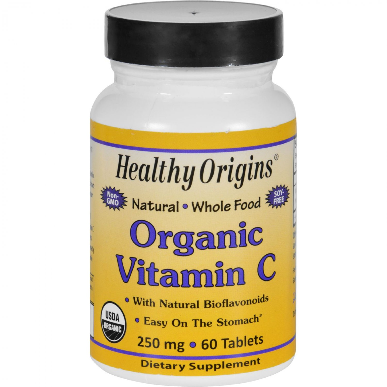 Healthy Origins Vitamin C - Organic - 250 mg - 60 Tablets