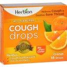 Herbion Naturals Cough Drops - All Natural - Orange - 18 Drops