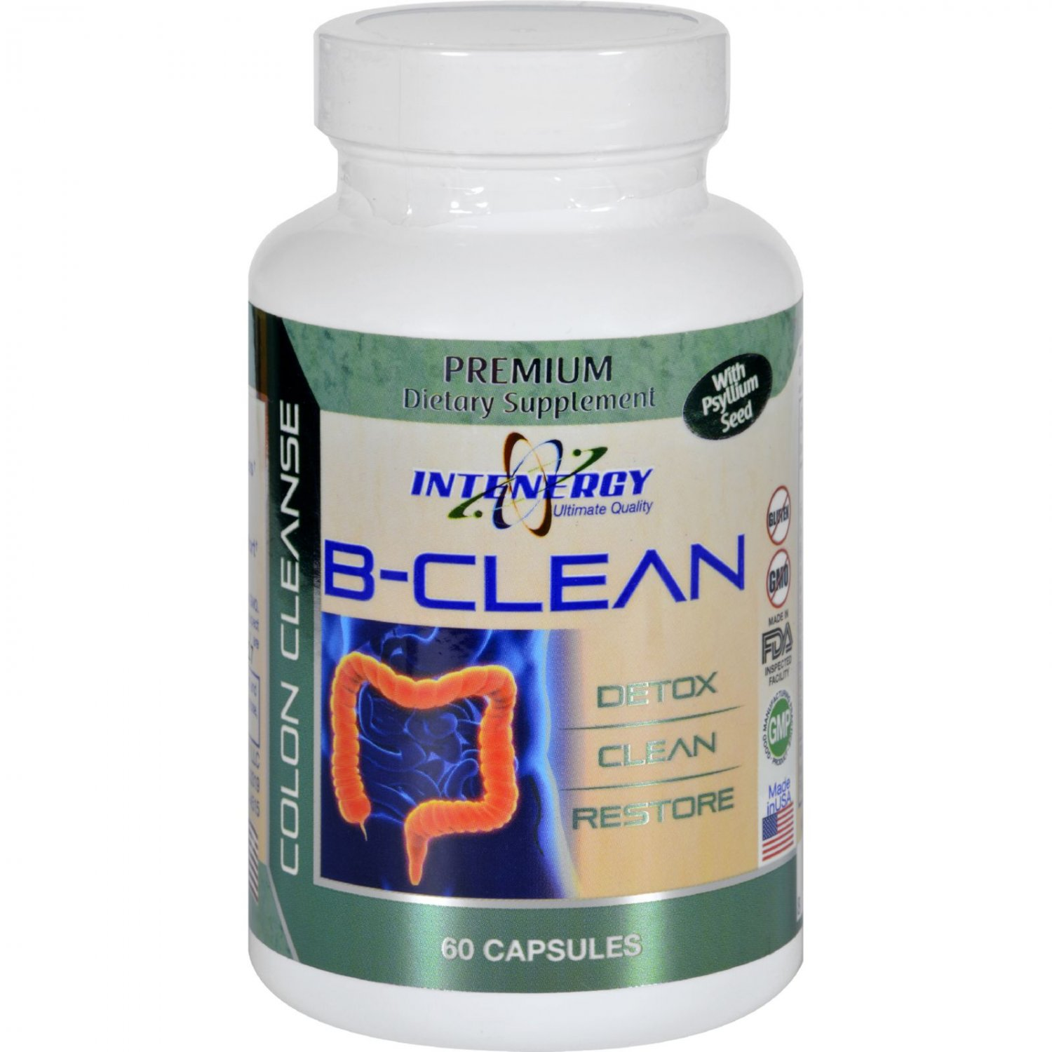 Intenergy B-Clean - with Psyllium Seed - 60 Capsules