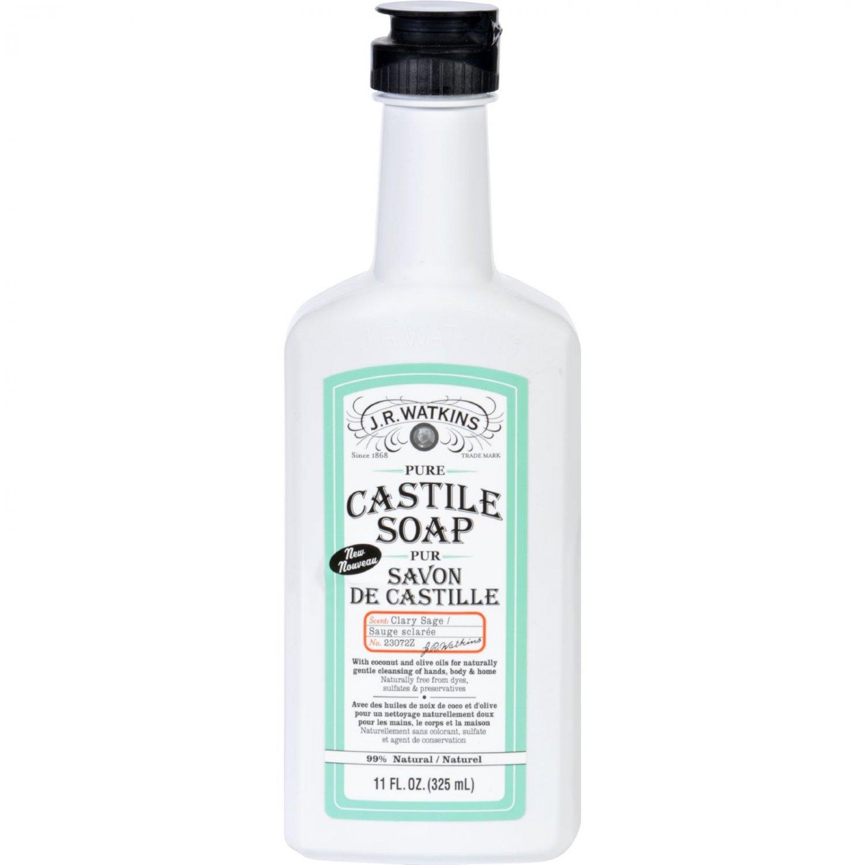 J.R. Watkins Hand Soap - Castile - Liquid - Sage - 11 oz