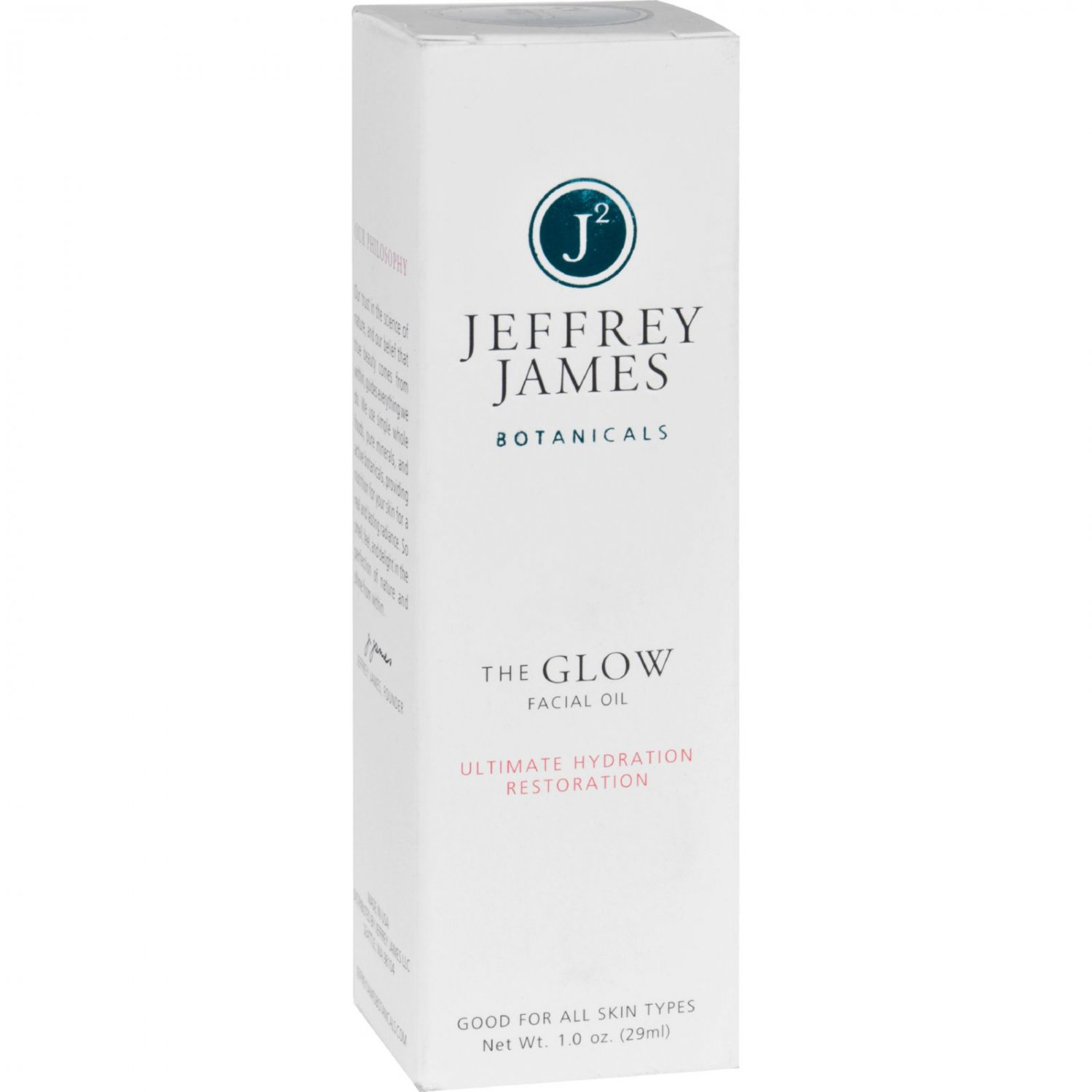 Jeffrey James Botanicals Facial Serum - The Glow - Ultimate Hydration Restoration - 1 oz