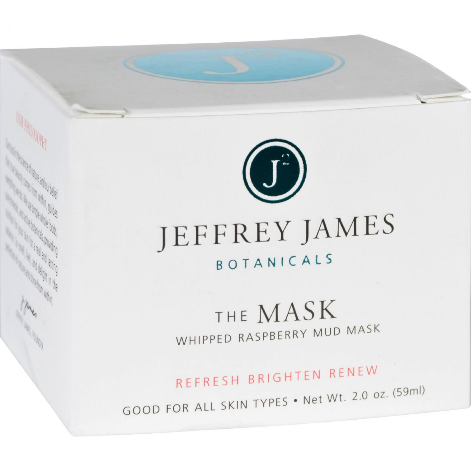 Jeffrey James Botanicals Facial Mask - The Mask - Whipped Raspberry Mud - 2 oz