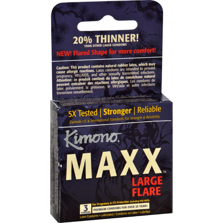 Kimono Condoms - Maxx - Large Flare - 3 Count