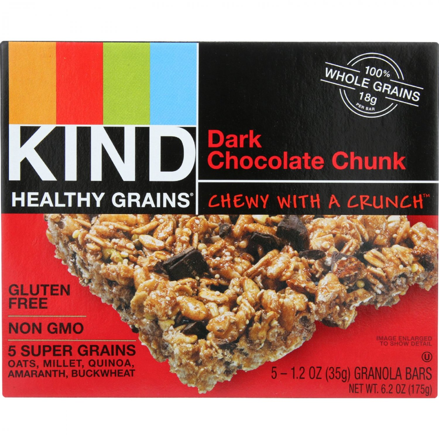 Kind Bar - Granola - Healthy Grains - Dark Chocolate Chunk - 5/1.2 oz - case of 8