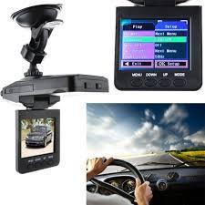 Wide Angle Lens HD Night Vision Car DVR Recorder Black