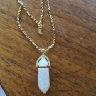 White Quartz Gemstone Moon Necklace