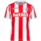 Men's FOOTBALL Stoke City Home Jersey 17/18 -Red White