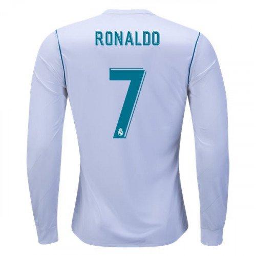 7255a148b MEN Cristiano Ronaldo LS Real Madrid 2017 18 Home  CR7 Jersey -