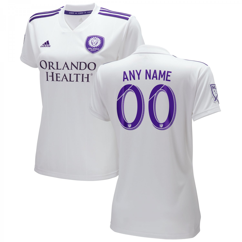 Women s Orlando City SC 2018 2019 MLS SOCCER Custom Jersey -White d34322a354