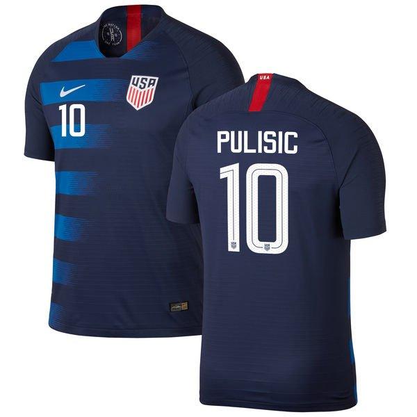 1b4f3fe52 Christian Pulisic #10 USMNT USA Away 2018-2019 SOCCER Jersey â   Navy