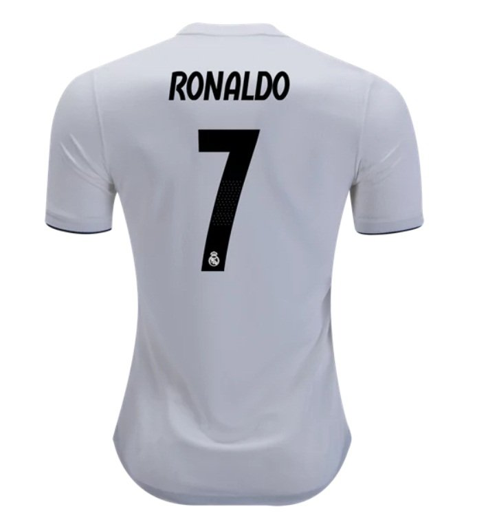 115014fa4ed Cristiano Ronaldo  7 Real Madrid White 2018-2019 Home Jersey New .